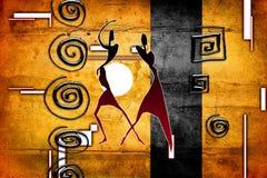 Африканское этническое ретро винтажное искусство Стоковые Изображения