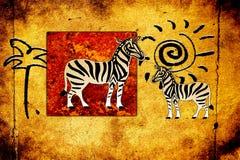 Африканское этническое ретро винтажное искусство Стоковая Фотография RF