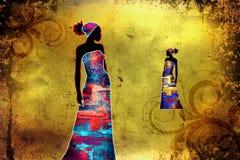 Африканское этническое ретро винтажное искусство Стоковые Изображения RF