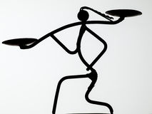 Африканское siluette Стоковое Фото