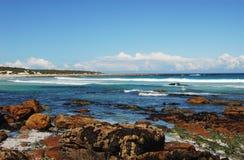 Африка - береговая линия пляжа Scarborough, Южной Африки Стоковое Изображение