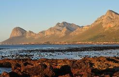 Африка красивая береговая линия залива Pringle, Южной Африки стоковые фотографии rf