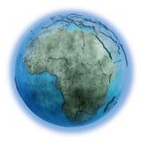 Африка на мраморной земле планеты Стоковое Фото