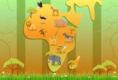 Африка одичалая Стоковые Фото