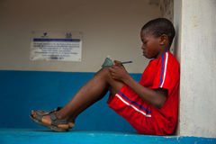 Африка, Сьерра-Леоне, малая деревня Mabendo Стоковые Изображения