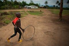 Африка, Сьерра-Леоне, малая деревня Mabendo Стоковые Фотографии RF