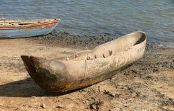 Африка, Mozambique.Boat на береге. Стоковое Изображение RF