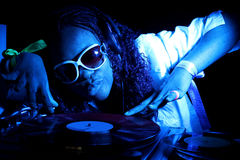 афро американец dj Стоковое Фото