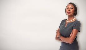 Афро-американская бизнес-леди стоковые изображения rf