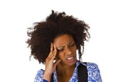 Афро-американская женщина чувствует больной стоковое фото rf