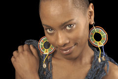 афро американская женщина стоковая фотография