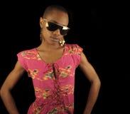 афро американская женщина Стоковое Фото