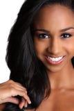 афро американская красивейшая женщина Стоковая Фотография
