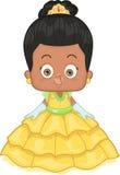 Афро-американская принцесса Иллюстрация вектора
