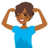 Афро-американская сильная девушка Стоковые Изображения RF