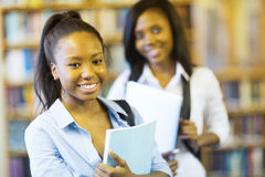 Афро-американская ученица колледжа Стоковое Изображение RF
