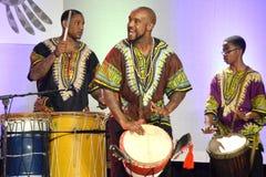 Афро-американские барабанщики стоковые фотографии rf