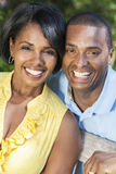 Афро-американские пары женщины & человека Стоковое Изображение RF