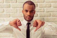 афро американский бизнесмен Стоковая Фотография RF