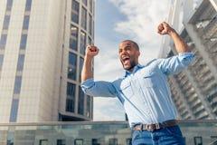 афро американский бизнесмен Стоковая Фотография