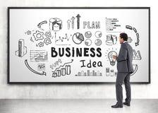Афро-американский бизнесмен, startup идея Стоковые Фотографии RF