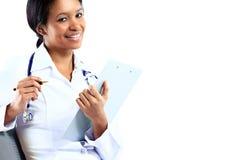 Афро-американский врач медсестры стоковая фотография