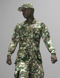 Афро-американский солдат Стоковое Изображение RF