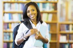 Афро-американский студент колледжа Стоковая Фотография RF