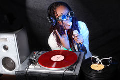 афро американский холодный dj Стоковое Изображение RF