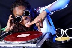 афро американский холодный dj Стоковые Фото