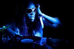 афро американский холодный dj Стоковое Фото