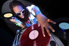 афро американский холодный dj Стоковые Изображения RF