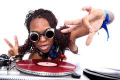 афро американский холодный dj Стоковые Изображения