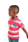 афро американский черный ребенок 11 изолировал усмешки Стоковое Изображение