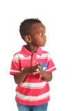афро американский черный ребенок 2 изолировал усмешки Стоковые Фотографии RF