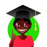 Афро-американский школьник иллюстрация вектора