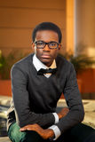 Афро-американское уверенно предназначенное для подростков стоковые фото