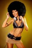 афро девушка Стоковое Фото