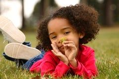 афро ребенок Стоковые Фотографии RF
