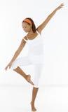 афро девушка танцы балета довольно Стоковое фото RF