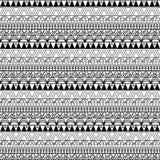 Ацтекская безшовная картина внутри Стоковое Фото