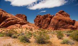 Ацтекская горная порода песчаника в долине огня Стоковое Изображение RF