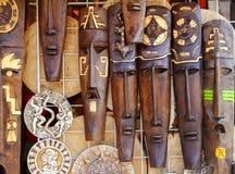 Ацтекская майяская деревянная индийская маска handcrafts Стоковое Фото