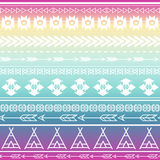 Ацтекская племенная безшовная multicolor предпосылка картины Племенной дизайн может быть прикладной для приглашений, тканей моды Стоковое Изображение
