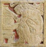 ацтекская стена типа украшения Стоковая Фотография RF