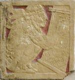 ацтекская стена типа украшения Стоковое Фото