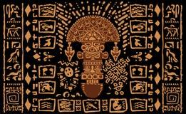Ацтекские орнаментальные племенные элементы и символы Стоковая Фотография RF