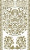 ацтекский календар стилизованный иллюстрация вектора