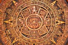 ацтекский календар стоковое фото rf
