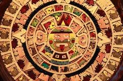 Ацтекский календар Стоковое Изображение RF